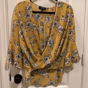 Floral printed women's top